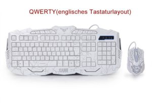 Gaming Tastatur-Maus Set beleuchtet-Mousepad einstellbar Hintergrundbeleuchtung Blitz Krack-02