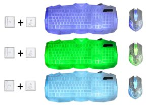 Gaming Tastatur-Maus Set beleuchtet-Mousepad einstellbar Hintergrundbeleuchtung Blitz Krack-03