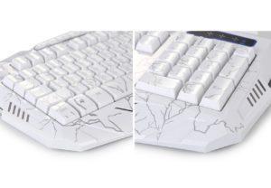 Gaming Tastatur-Maus Set beleuchtet-Mousepad einstellbar Hintergrundbeleuchtung Blitz Krack-04