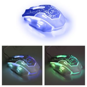 Gaming Tastatur-Maus Set beleuchtet-Mousepad einstellbar Hintergrundbeleuchtung Blitz Krack-05